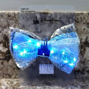 Disney Light Up Cinderella Sequin/Glitter Hair Bow